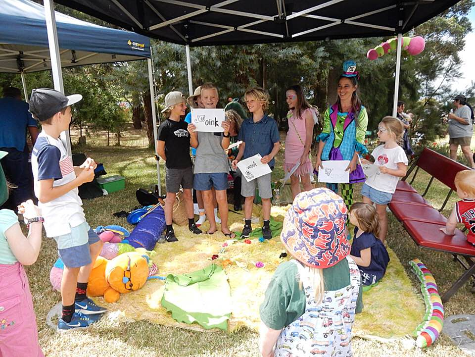 Kids activities at the 2018 Toora Pear Party