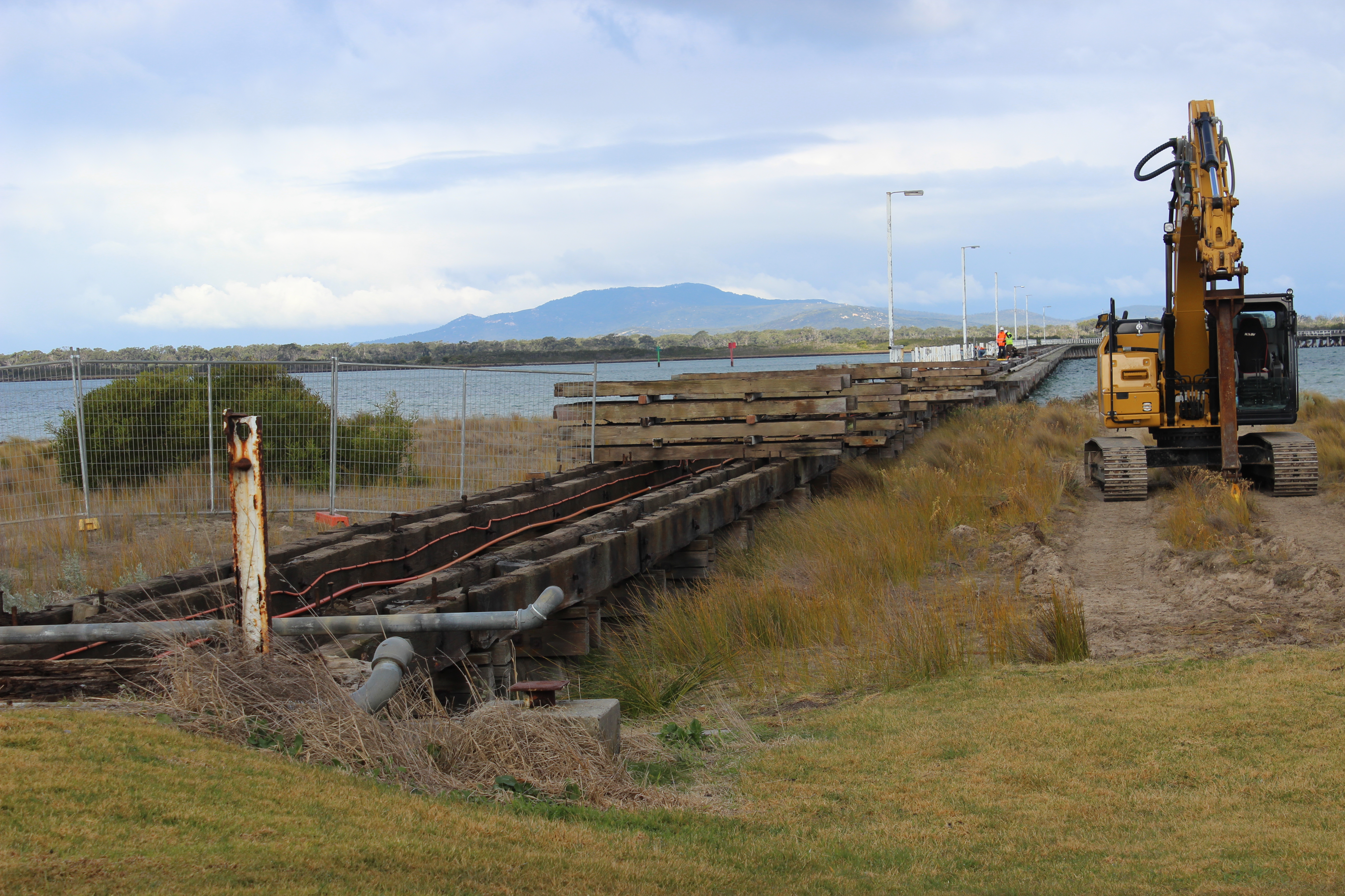 The Long Jetty restoration has begun