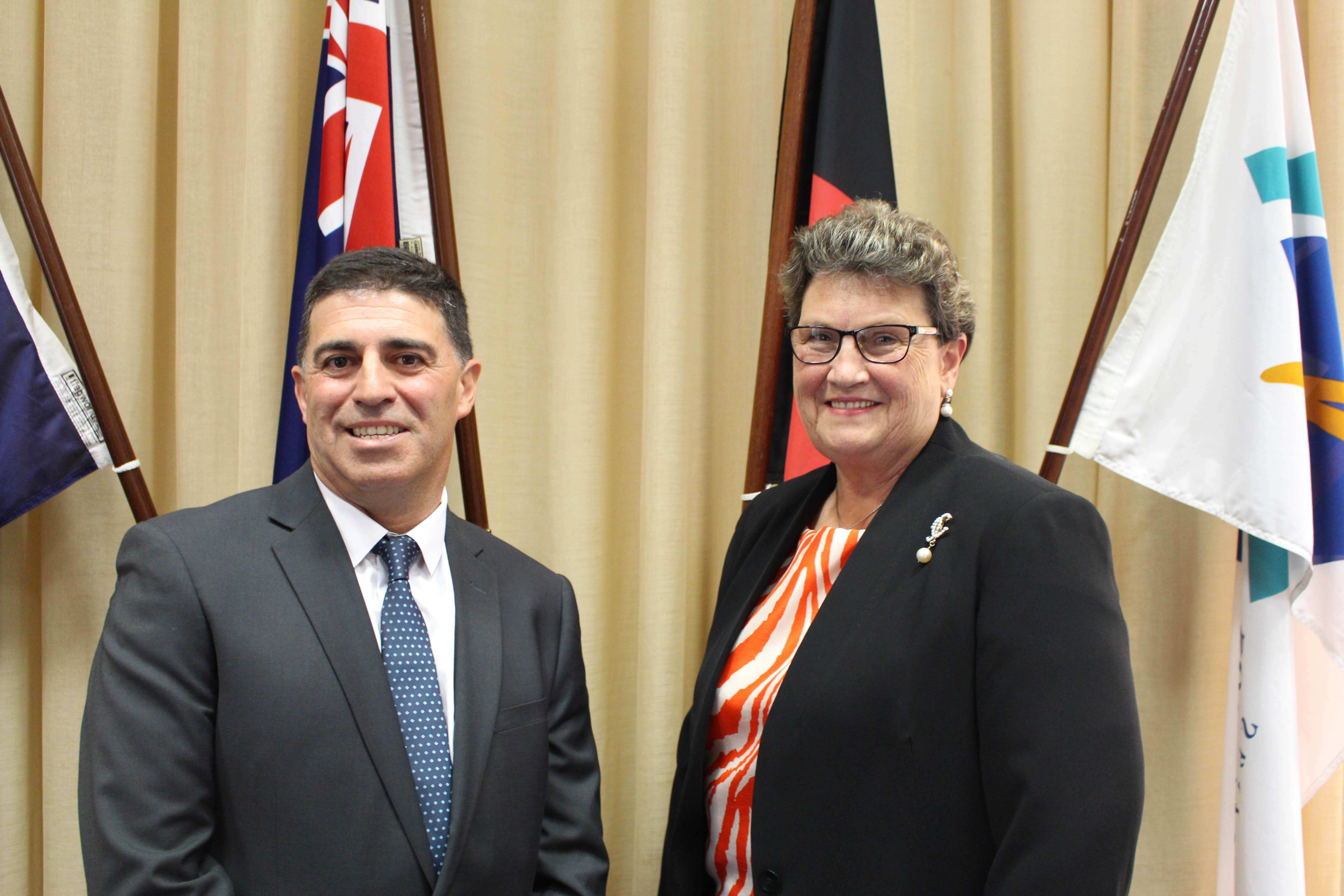 Congratulation to our newly appointed Mayor Cr Ray Argento and Deputy Mayor Cr Maxine Kiel
