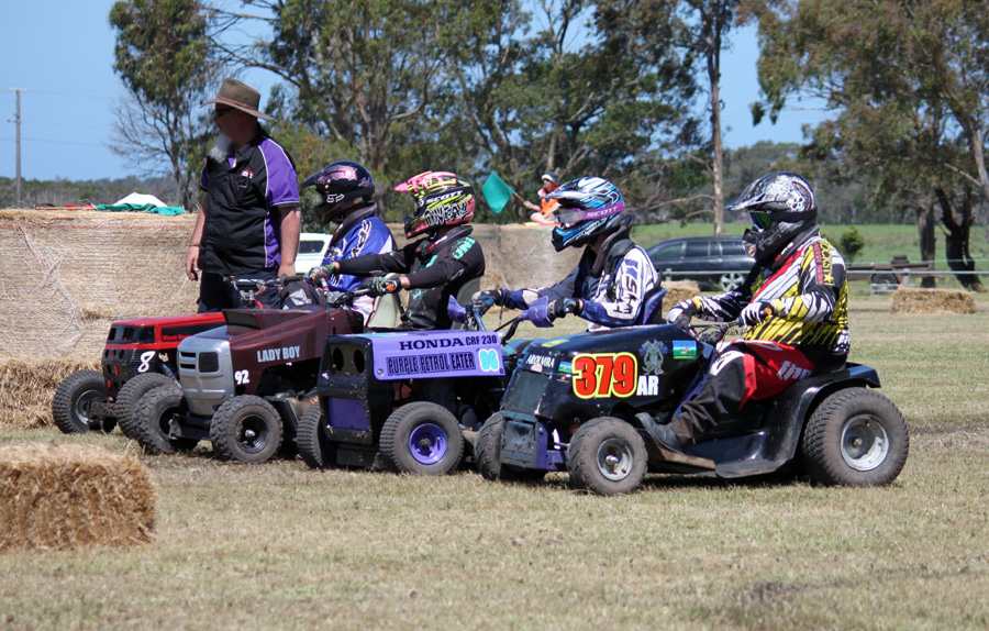 Members of the Australian Ride On Lawn Mower Racing Association (AROLMRA) put on a great show at the Arthur Sutherland Recreation Reserve, Welshpool