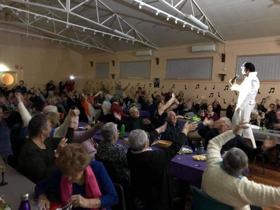Elvis comes to Welshpool.  Damian Mullin wowed the audience at the Welshpool Memorial Hall