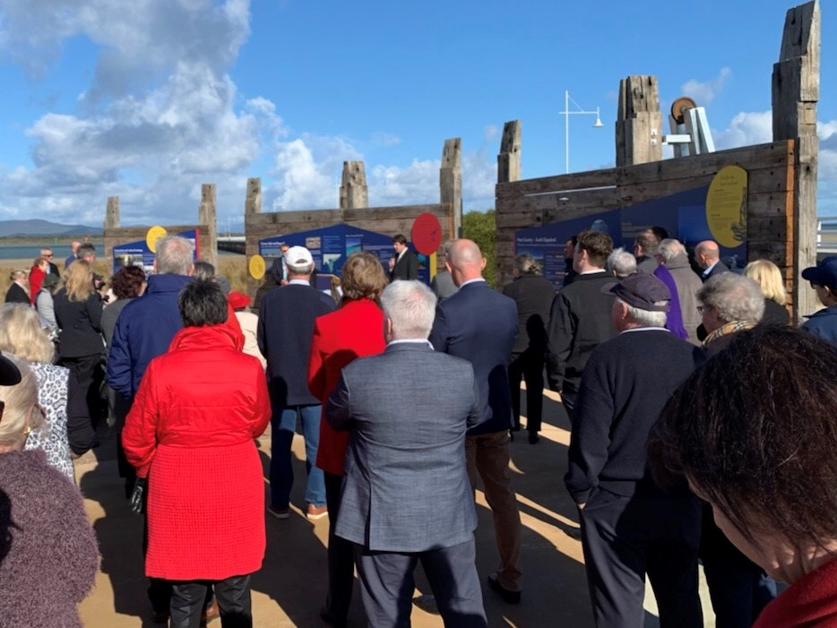 The crowds gather for the Official Opening of the Long Jetty