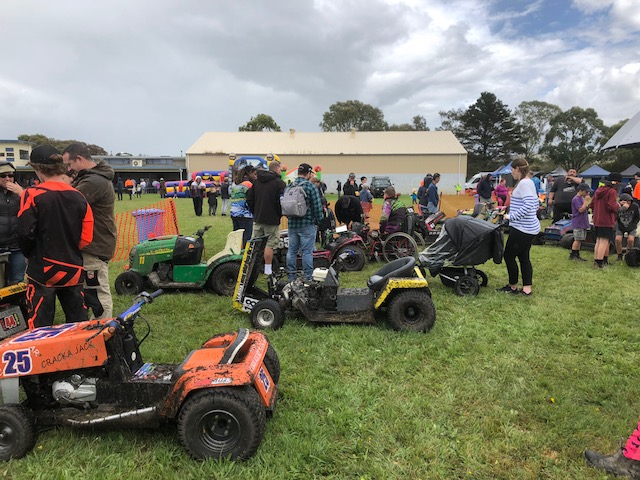 Welshpool Recreation Reserve Lawn Mower Race Day