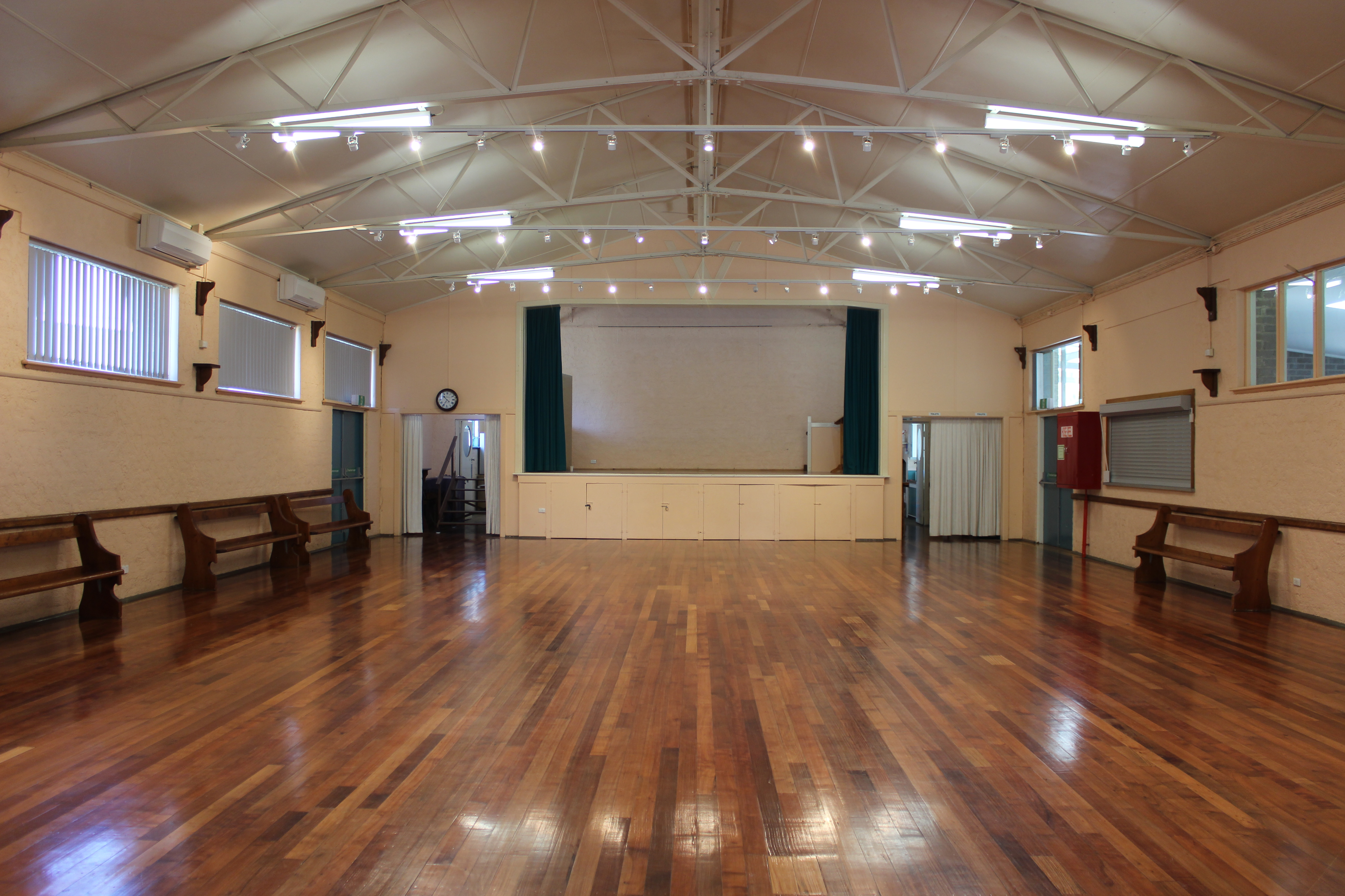 Beautifully furbished main hall with front stage area